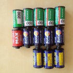 Thirteen cartridges of film with either twelve or twenty-four exposures.