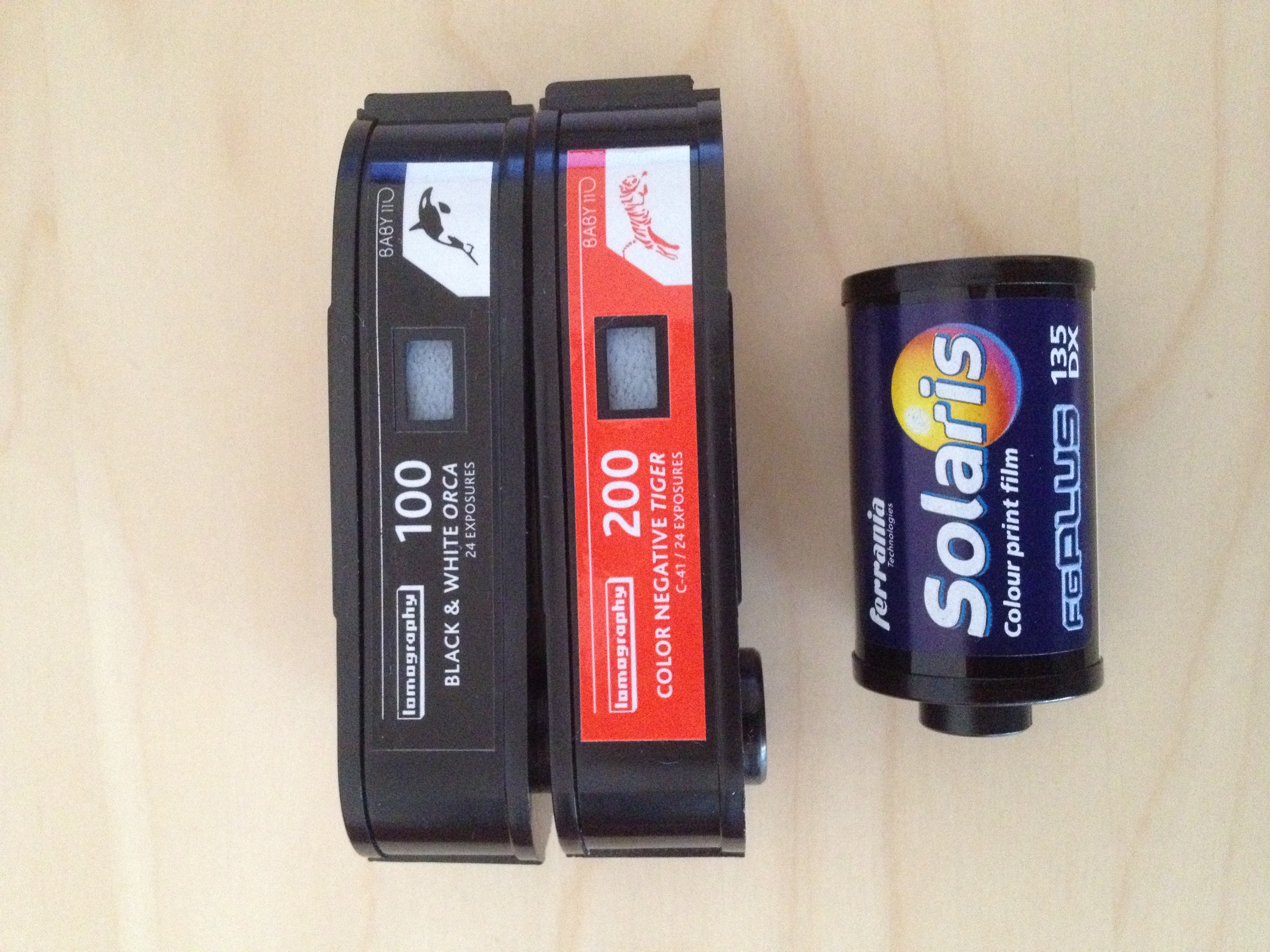 Cartridges of 110 and 135 format film.